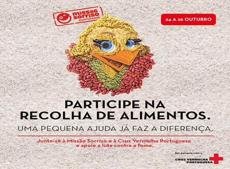 Missão Sorriso, em pareceria com a Cruz Vermelha Portuguesa, promove campanha de recola de alimentos