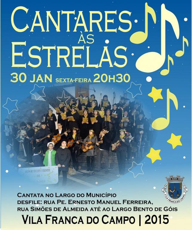 """""""Cantares às Estrelas"""" em Vila Franca do Campo no dia 30 de janeiro"""
