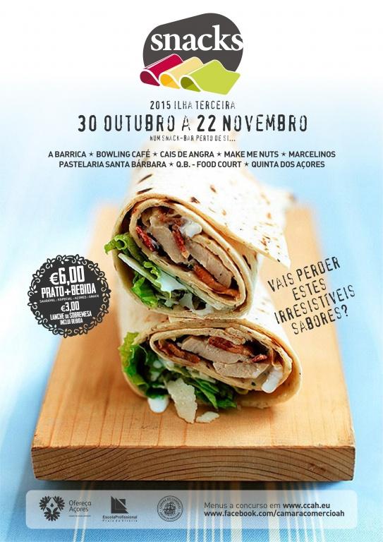 Entre 30 de Outubro e 22 de Novembro Semanas de Snacks na Ilha Terceira