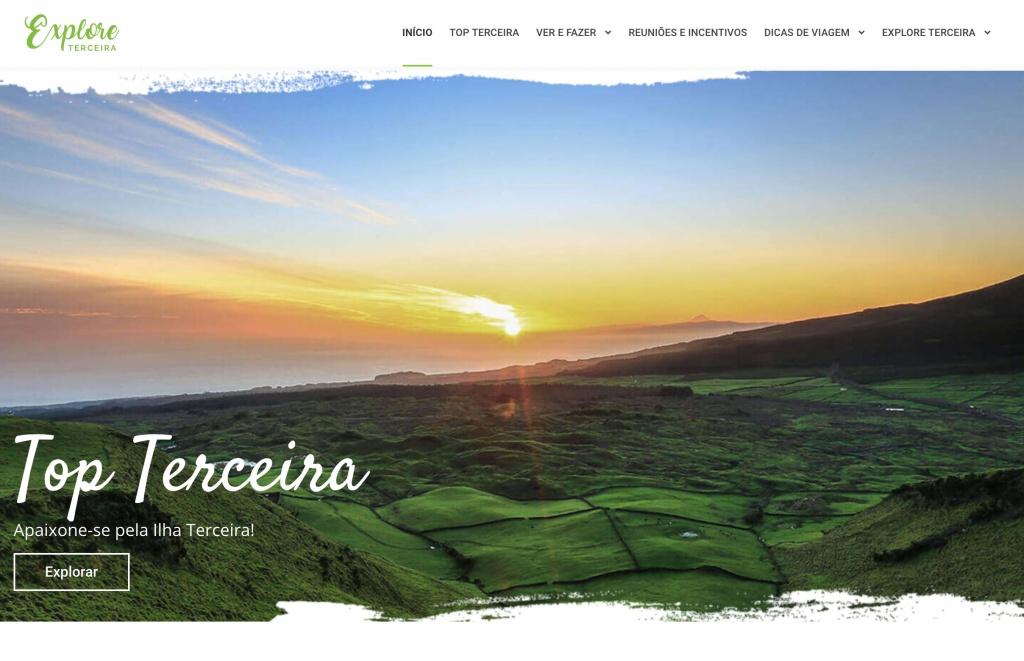 Site promoção turística desenvolvido pela CCAH, Explore Terceira ultrapassa as 100 mil visualizações